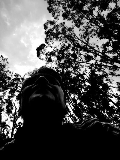 Biking Exceptional Photographs EyeEm Best Shots Relaxing That's Me Blackandwhite Branch Darkness And Light Day Enjoying Life Eye4photography  Low Angle View Monochrome Photography Nature One Person Outdoors Real People Sky Tree