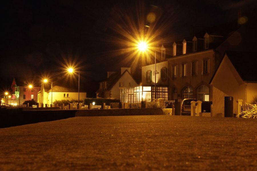 Bord De Mer Illuminated Building Exterior Architecture Built Structure Night Street Street Light