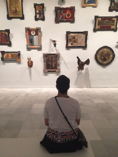 Mix Yourself A Good Time Museo Reina Sofia Nsk Rear View Real People One Person Indoors  Women Sitting Standing Galery Museo Art Enjoying Life Check This Out Taking Photos Hanging Out Real Life Culture Men Day People