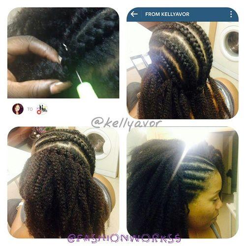 Fashionworkstv Hairtutorial By  @kellyavor Hair weave braids Hairplot fashionworks5 ideas black HowtoStyle