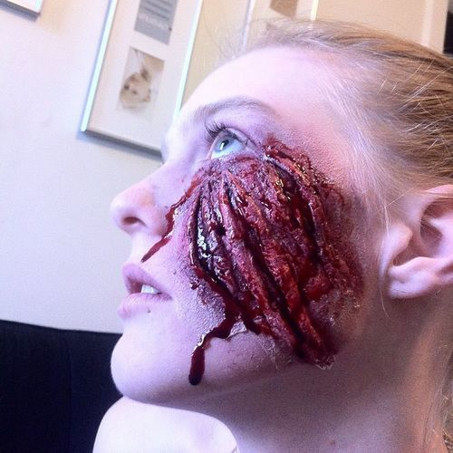 Playing around with some Special Effects for Halloween 🎃👻💄 Specialeffects Makeup For Halloween Gruesome Gashes Scratches BLOODY Mess Bruising Love Sfx Halloween October 31st  Spooky Werewolf Claw Marks Creepy Face Trickortreat Instagood Bestoftheday Nofilter iphoneonly missjayemua