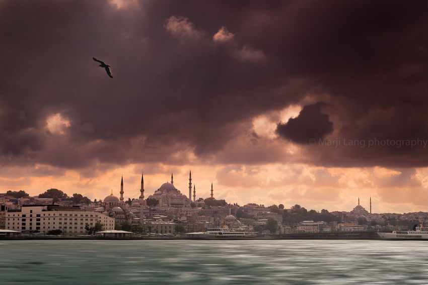 Stormy sky over the Golden Horn in Istanbul, Turkey Cities At Night Bosphorus City Cityscape Cloud Cloud - Sky Cloudy Dramatic Sky Dramatic Sky Golden Horn Istanbul Light And Shadow No People Outdoors Overcast Scenics Sky Storm Storm Cloud Sunset Travel Travel Destinations Turkey Water Weather