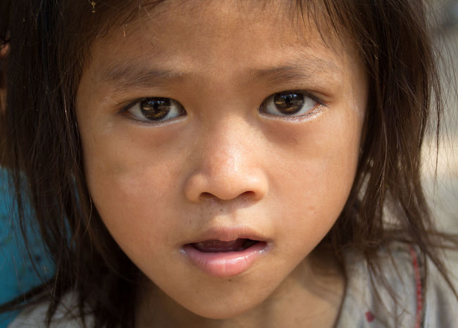 Ankor Thom Ankor Wat Cambodia Child Childhood Close-up Girls Khmer Looking At Camera People Portrait Real People