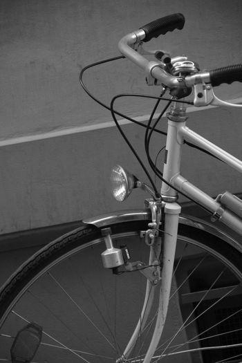 Bicycle Handlebar Detail Blackandwhite No People Transportation Mode Of Transport Daytime