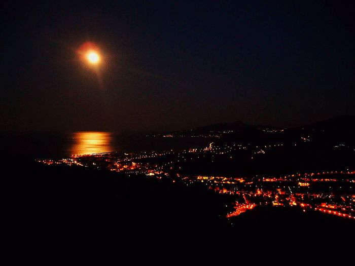 Cogorno Liguria,Italy Night Moon Illuminated No People Outdoors Beauty In Nature Sea Scenics Nature EyeEm Selects EyeEmNewHere Neon Life Panoramic View Home Breathing Space Be. Ready.