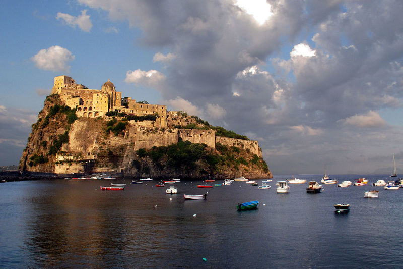 Rock southern Italy Calabria (Italy) Mediterranean Sea Ancient Castle Architecture Beauty In Nature Building Exterior Built Structure Castle On Rock Cloud - Sky Day Mountain Nature Nautical Vessel No People Outdoors Sea Sky Transportation Travel Destinations Turism Water Waterfront Yacht