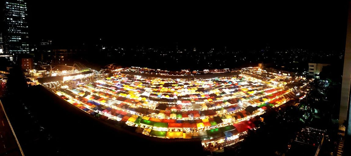 Night market ตลาดรถไฟ@รัชดา Night Illuminated Arts Culture And Entertainment Business Finance And Industry Traditional Festival Multi Colored No People Outdoors Sky City Bangkok Thailand Night Lights Night Life 🌛 Night Market In Thailand Nighttime Food And Drink