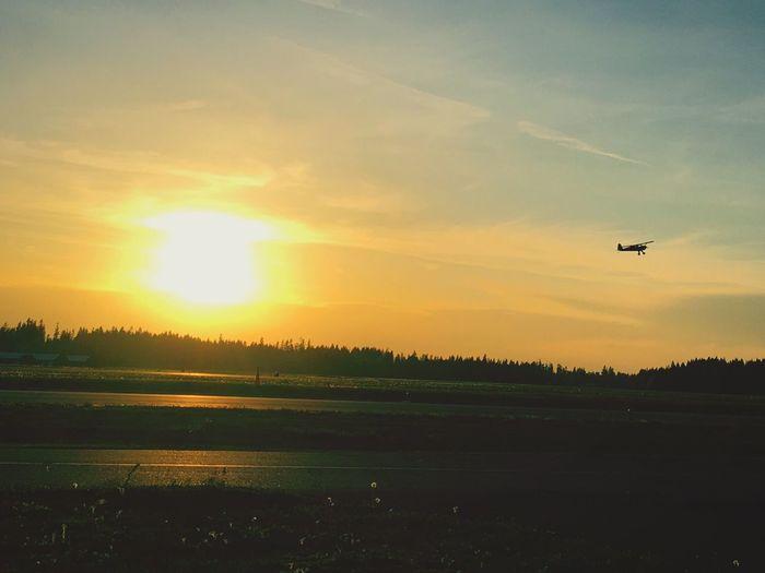 First Eyeem Photo Planes Sunset Sunset Silhouettes TakeOff