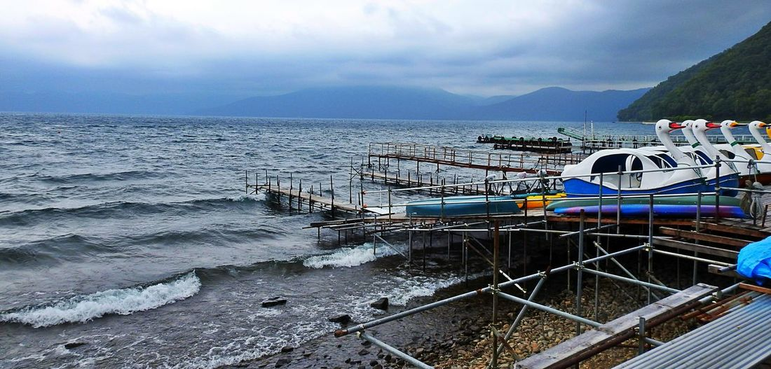 Hokkaido Lake Shikotsu 10 Degrees And Windy