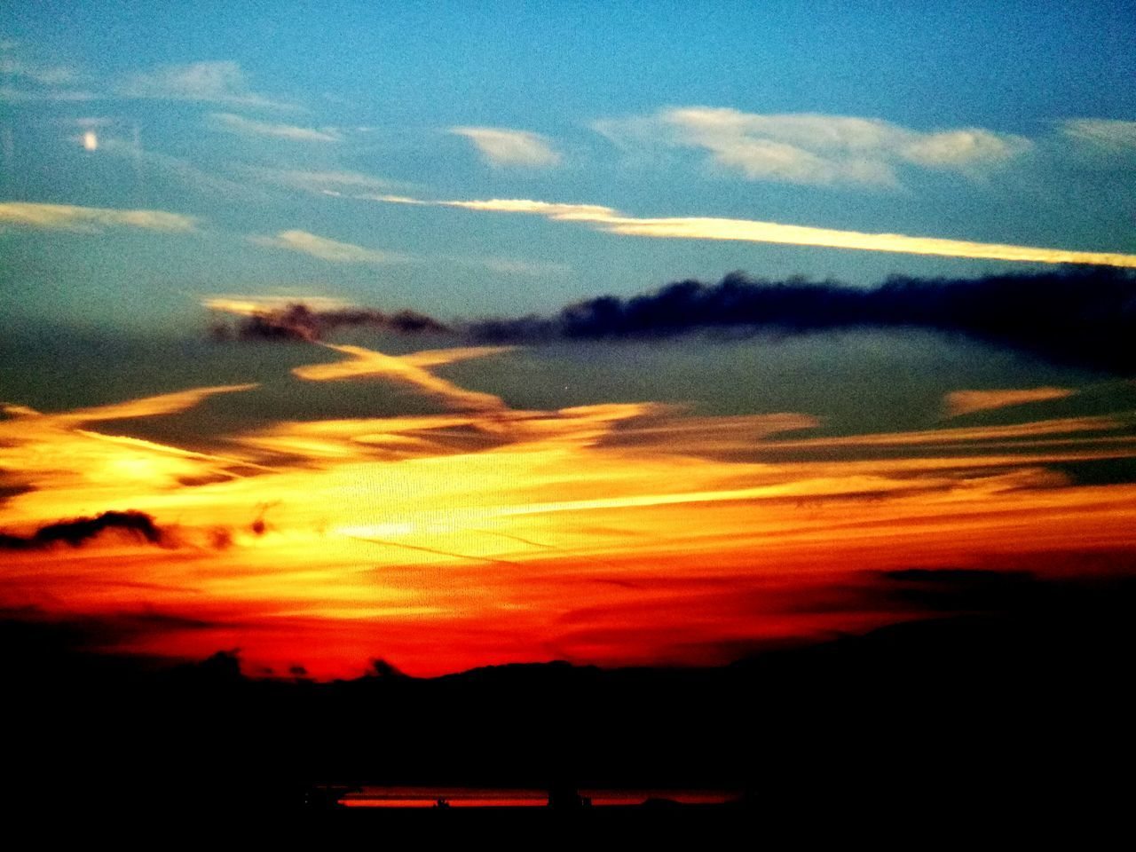sunset, sky, nature, beauty in nature, scenics, silhouette, tranquility, cloud - sky, tranquil scene, no people, outdoors