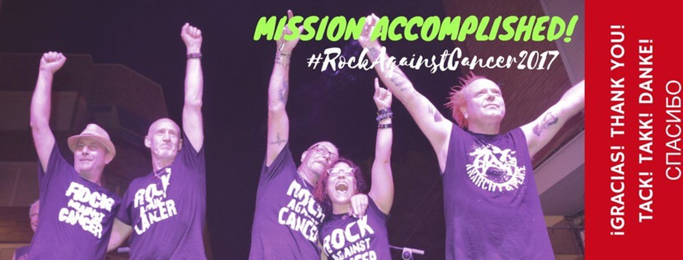Mission Accomplished Rock Against Cancer 2017 Monroe's Music Pub Torrevieja Costa Blanca SPAIN