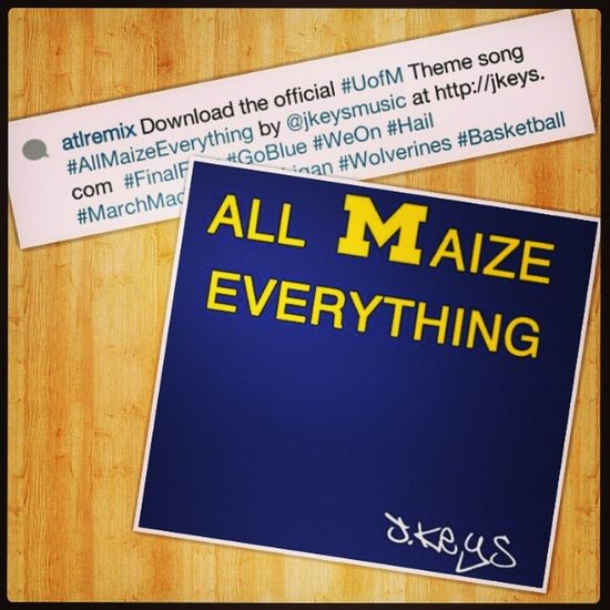 UofM Themesong Repost from @atlremix @jkeysmusic GoBlue AllMaizeEverything