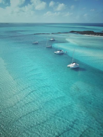 Warderick Wells Cay Bahamas Luxury Nature Beach Ocean Aerial Shot Beauty In Nature Sea And Sky Aerial View Travel Photography Exuma Outdoors Travel Destinations Yacht Catamaran Sailing Sailboat