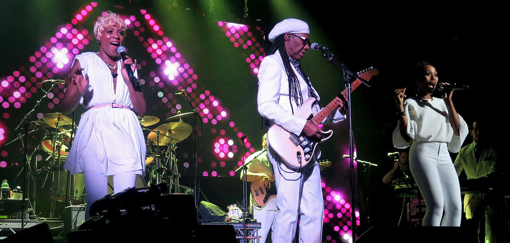 Chic featuring Nile Rodgers @ O2 Academy - Glasgow 23/03/2015 Artist Arts Culture And Entertainment Chic Concert Crowd Entertainment Occupation Group Of People Illuminated Men Music Musical Equipment Musical Instrument Musician Night Nightlife Nilerodgers Performance Performance Group Performing Arts Event Popular Music Concert Real People Skill  Stage Stage - Performance Space Women