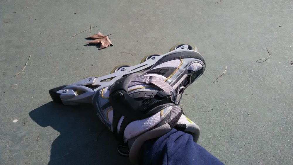 Skating day... gone wrong Day Fall Down High Angle View No People Outdoors Skate Sport Summer