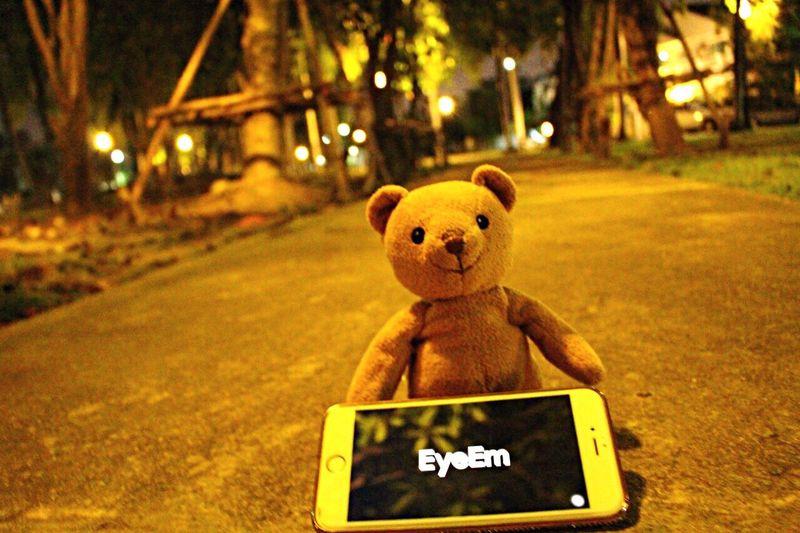 EyeEm & My Bear ... Mymheegoeverwheres My Bear Story Taking Photos Nightphotography Streetphotography EyeEm Best Shots Bokeh Showcase March From My Point Of View Reflection