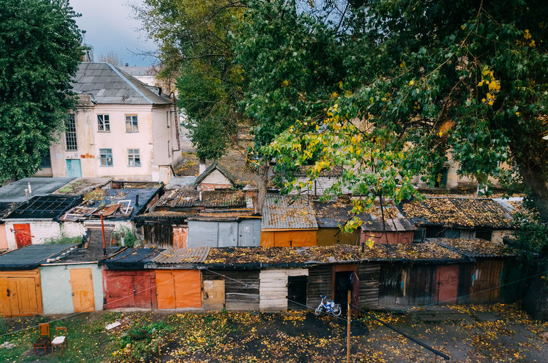 View out of window on a Old Russian town EyeEm Gallery EyeEmNewHere Russia Architecture Building Exterior Built Structure Day Fall Nature Nautical Vessel No People Outdoors Russian Tree