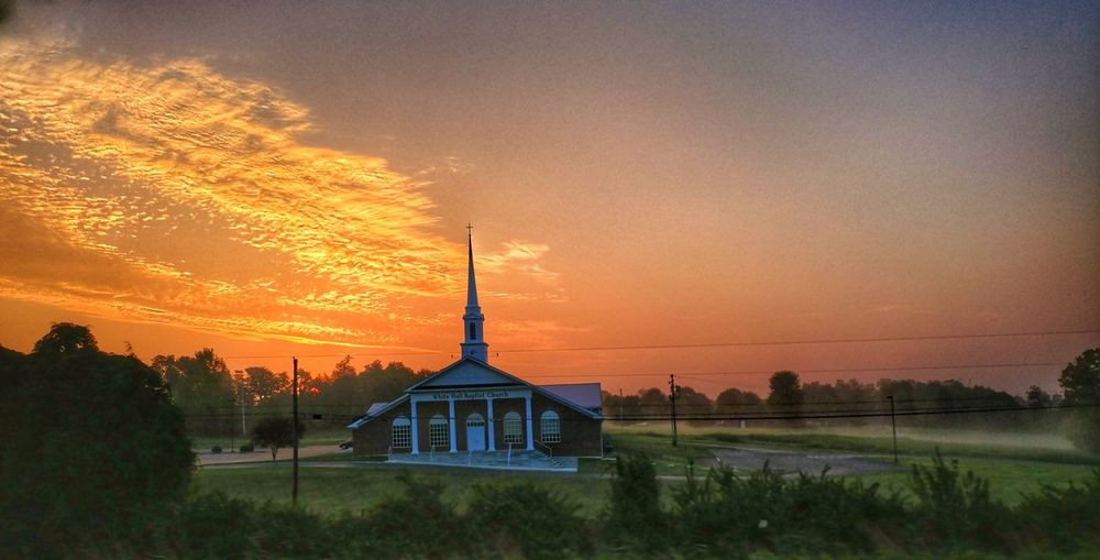 Rural Scene Architecture Church Sunrise Kentucky Sunrise Serene Gods Creation Landscape Beauty In Nature ChurchSteeple Silouhette&sky