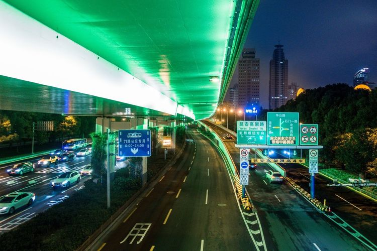 Street, Lights... Illuminated Transportation Road Night Architecture Direction The Way Forward City Sign Motor Vehicle Car Built Structure Communication Street Motion Travel A New Perspective On Life Capture Tomorrow 17.62°