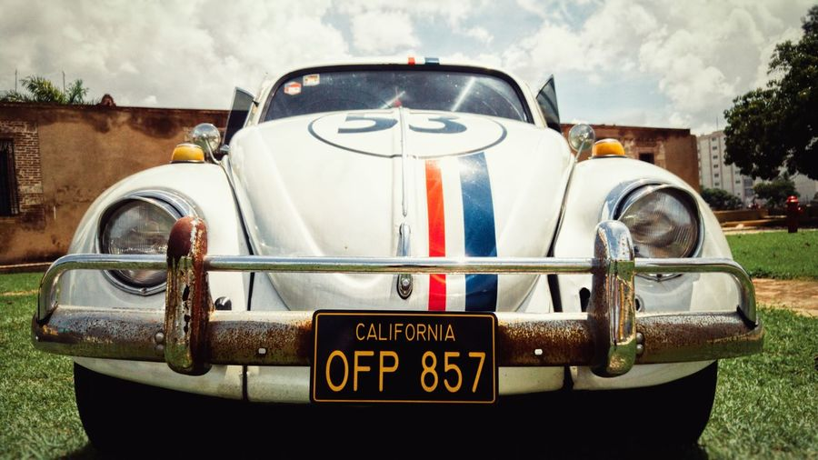 Herbie Outdoors Day No People Sky Close-up Volkswagen Exhibition Herbie Classic Car Collectible German