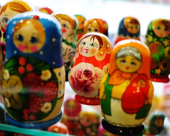 Russian dolls Selective Focus depth of field Russian Dolls Doll Colors Colours Bright Colorful Toy