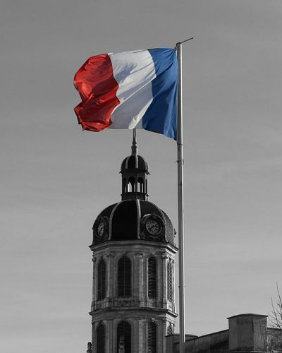 Feeling artistic today 😊 Travel Destinations Travel Photography Color Splash Artistic Photo Blackandwhite Blackandwhite Feeling Good Colors Threecolors Vacations Architecture Architecture_collection French France Frenchflag Colorsplash Colorsplash_theworld Wintertime Travelling Travel Destinations Flag Government Authority Pride No People