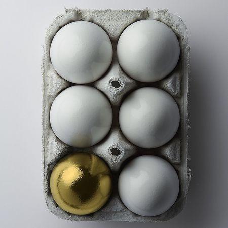 Golden Egg Egg Still Life Food And Drink Studio Shot White Background