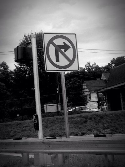 Signs Street No Right Turn