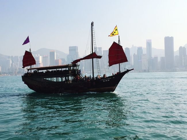 Travel I Love Hong Kong Hong Kong Boat River City Cityscapes