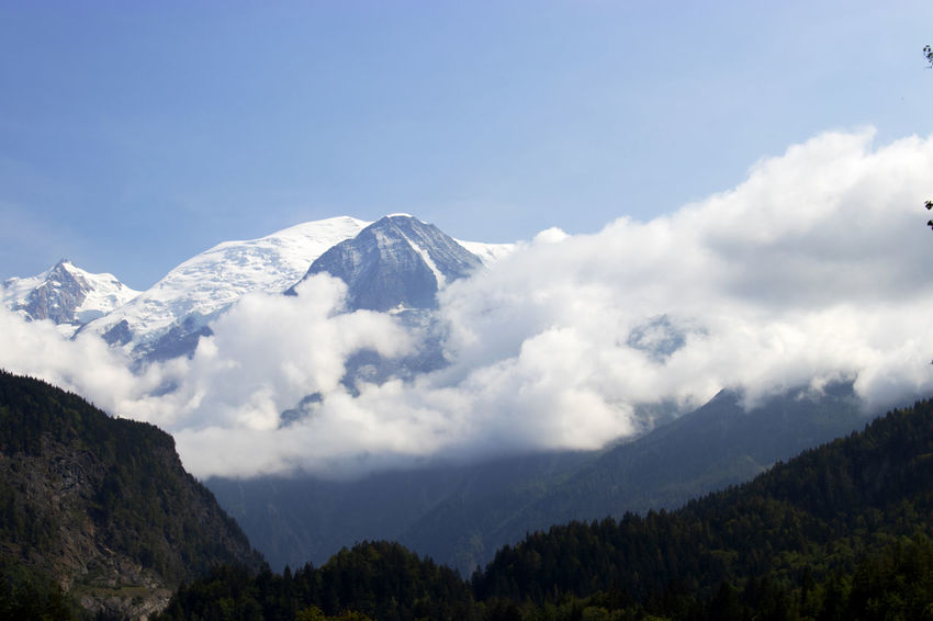 Mont Blanc clouds Environment Landscape Mountain Mountain Peak Mountain Range Nature No People Scenics - Nature Sky Snowcapped Mountain Tranquil Scene Tranquility