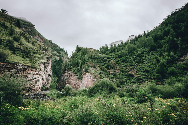 Gap China Countryside Gannan Gap Landscape Mountain On The Road Tranquil Scene Tranquility