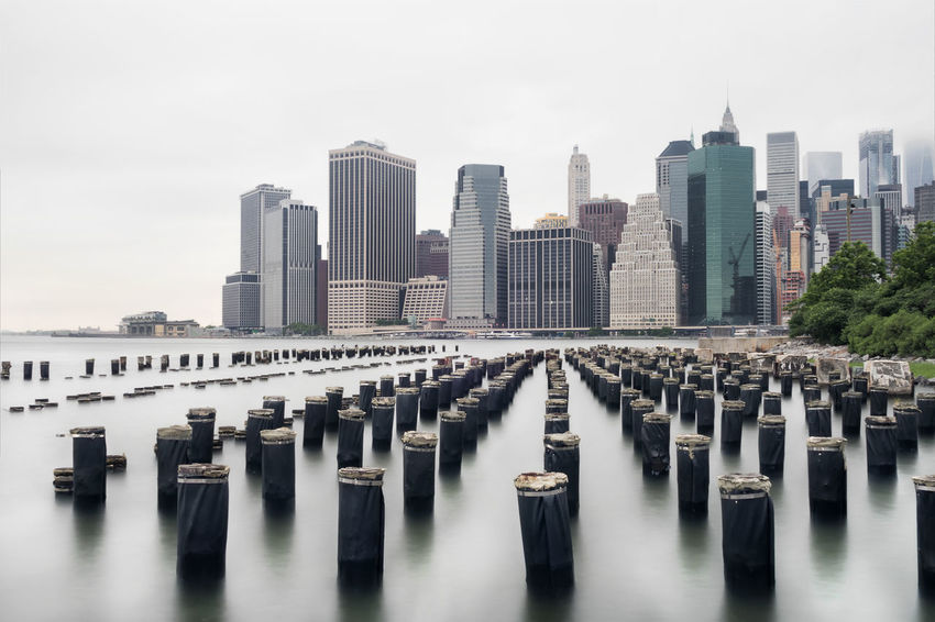 New york skyline with a long exposure during day Brooklyn Park Cloud - Sky Cloudy Eye4photography  EyeEm EyeEm Best Shots EyeEm Gallery EyeEmNewHere Landscape Long Exposure New York City Skyline Water Waterfront