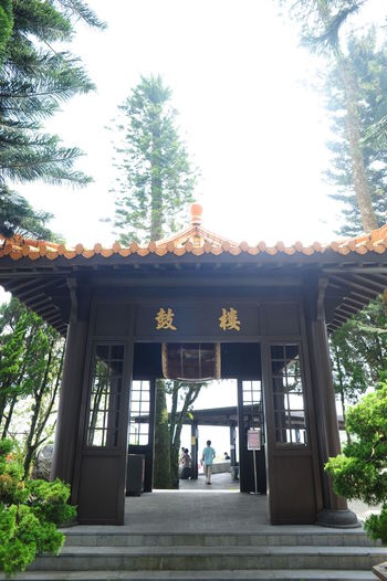 24mm F2.8 Architecture Building Exterior Built Structure Cultures D700 Day Entrance Jin Nikon Outdoors People Person Place Of Worship Religion Sky Spirituality Sunmoonlake Syuentzang Syuentzang Temple Travel Destinations Tree Vertical 日月潭