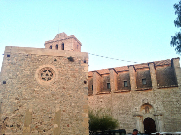 Altstadt Von Ibiza Architecture Blue Dalt Vila History Ibiza Ibiza Cathedral Low Angle View No People Outdoors Sky SPAIN Summer