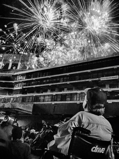 Monochrome Photography My Daddy Happy Senior Citizen A's Baseball Field Dad In Tears Best Fireworks Ever
