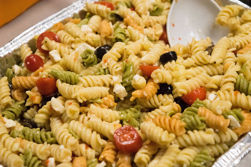 Close-up Corn Day Food Food And Drink Freshness Healthy Eating Indoors  Macaroni Salad  No People Ready-to-eat Variation