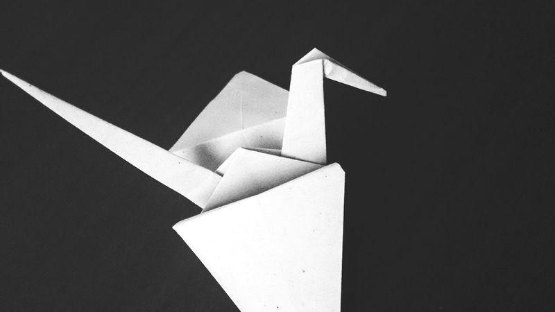 Origami Tsuru Photography Black And White PhonePhotography Simple Photography Dark