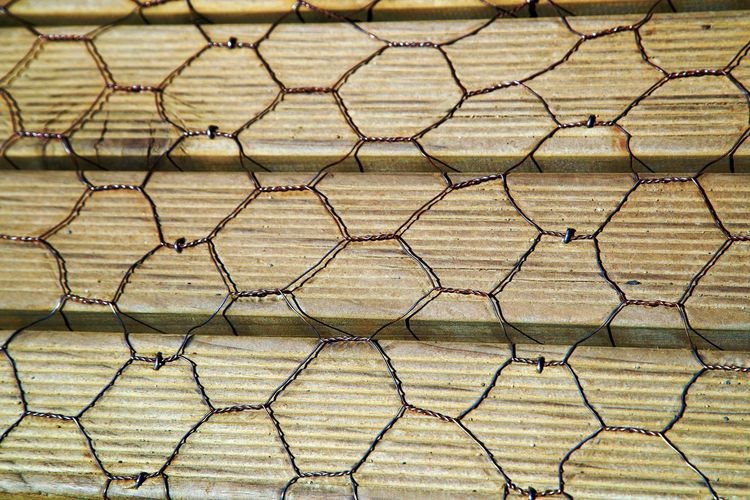 Backgrounds Day Full Frame No People Outdoors Pattern Wire Wood And Wire Fence