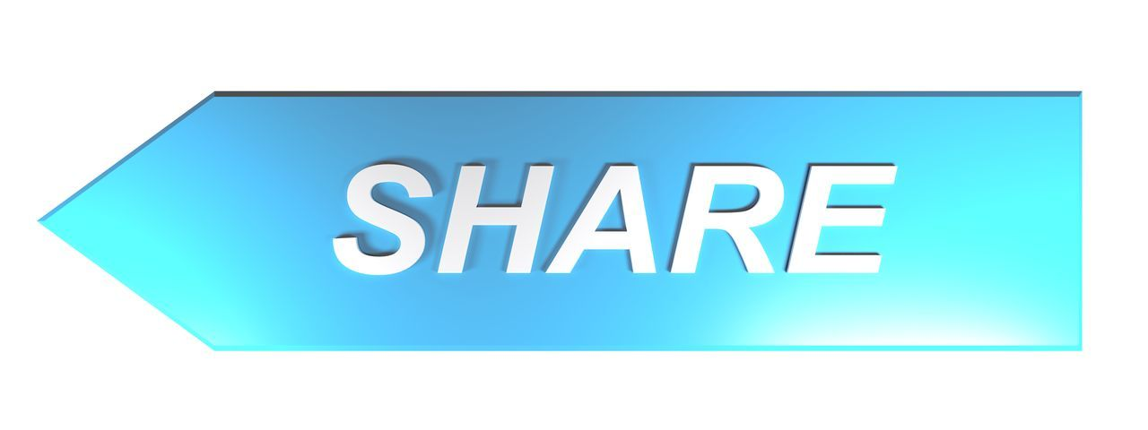 SHARE on blue