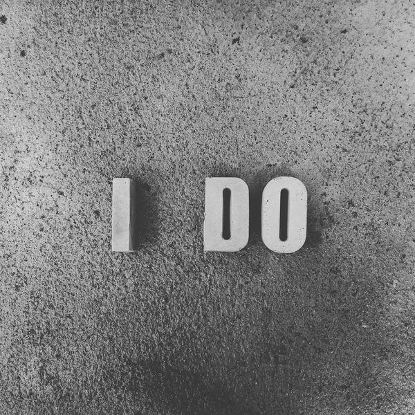 I DO. Ido Concretedesign Wordporn Word Art