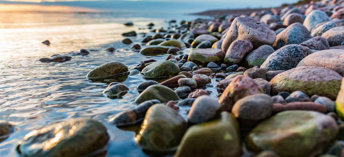 Beautiful natural stones located on the swedish baltic sea