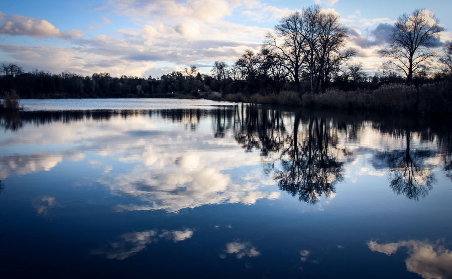 Beauty In Nature Cloud - Sky Day Lake Nature No People Outdoors Reflection Scenics Sky Standing Water Tranquil Scene Tranquility Tree Water Waterfront