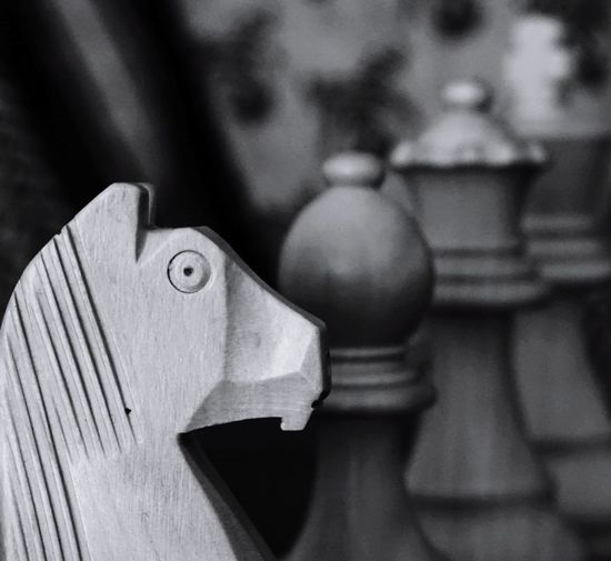 Focus On Foreground Close-up No People SonyA500 Strategy Chess Chess Piece Chess Board Knight - Chess Piece Blackandwhite Blackandwhite Photography Indoors  EyeEmNewHere