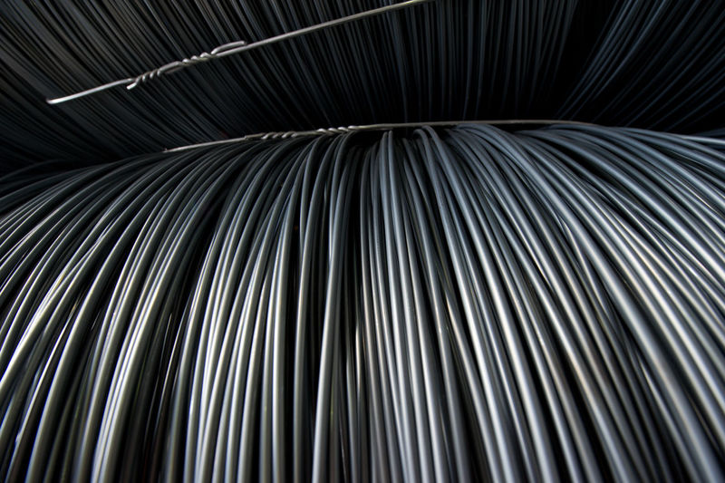 Full Frame Shot Of Metallic Rolled Up Wires