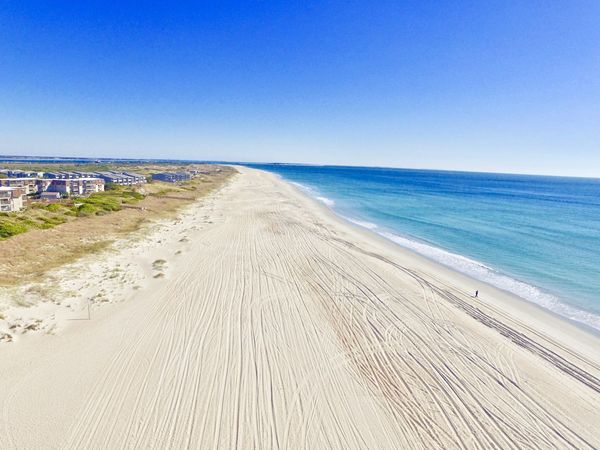 Atlantic Beach NC Beach Beauty In Nature Blue Clear Sky Day Horizon Over Water Nature Outdoors Sand Scenics Sea Tranquil Scene Tranquility Travel Destinations Water