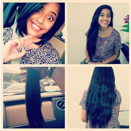Big girl haircut Somuchhair Seriouslylotahair Beautiful Longbob lob hair donate cute darkhair toniguysugarland