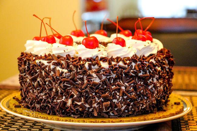 Holiday Desserts Blackforestcake Redribbon Pinoydessert Food Stories