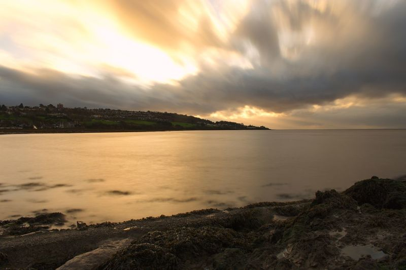 Long Exposure Sky Cloud - Sky Sunset Scenics Water Tranquility Sea Tranquil Scene Beauty In Nature Nature Outdoors Landscape Horizon Over Water Beach Day No People