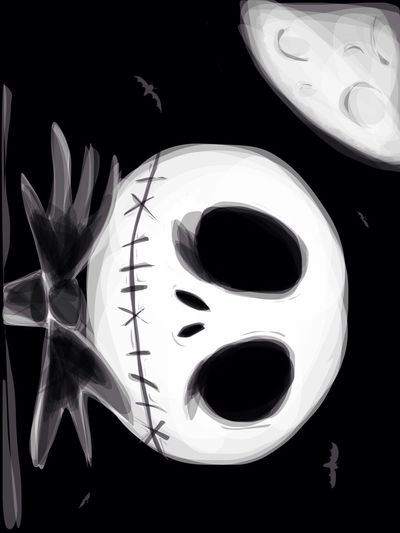 Dessin iPad TheNightmareBeforeChristmas Drawing Art Ipad ( reproduction )
