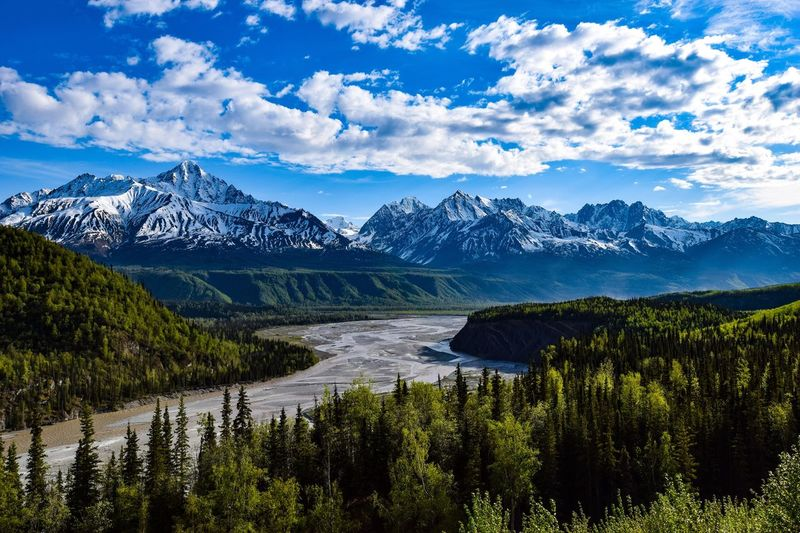 Scenic View Of River Against Mountain Landscape